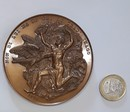 Napoleon in Saint Helena, 1816. Bronze medal, 77 mm