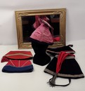 Lot of 5 military style women hats, circa 1900