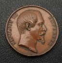 Universal exposition of 1855 , attributed medal.