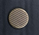 Old buttons 27 mm striped, brown