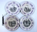 4 plates in porcelain of Sarreguemines about boers war