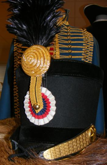 Shako for officer, 5th hussar