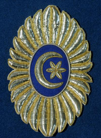 Order of crescent, 22 x 14 cm, for cloak