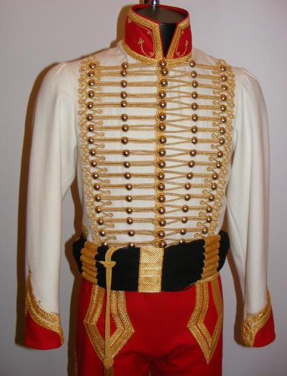 Hussar type dolman, trousers and sash, for