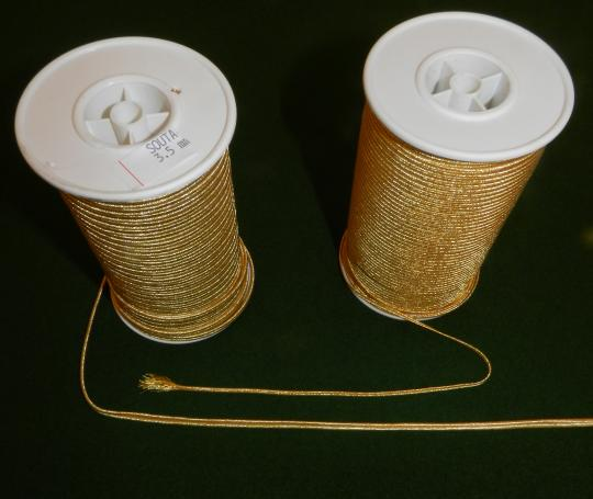 Gold or silver braid: 2 mm or  3,5 mm