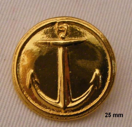 Buttons for marine officers: 2 sizes 16 and 25 mm. The unit