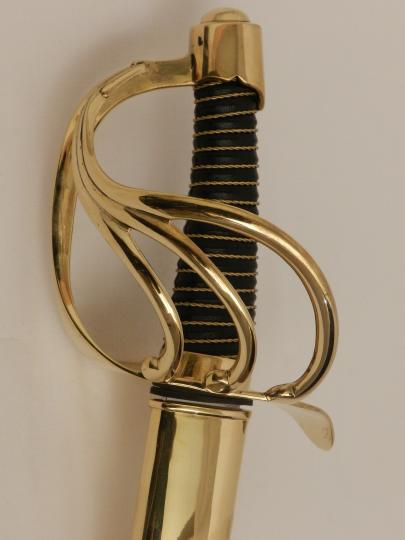 Napoleonic saber for dragoon, troop, empire type