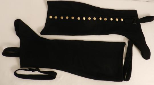 Black gaiters in wool- price by pair