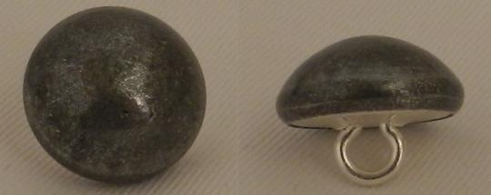 Curved buttons, pewter aspect : 15, 18 mm, for