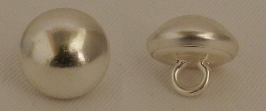 Curved silver buttons: 15, 18 and 20 mm