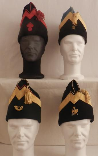 Forage cap for officer with one rank of braid and embroidered insignia.