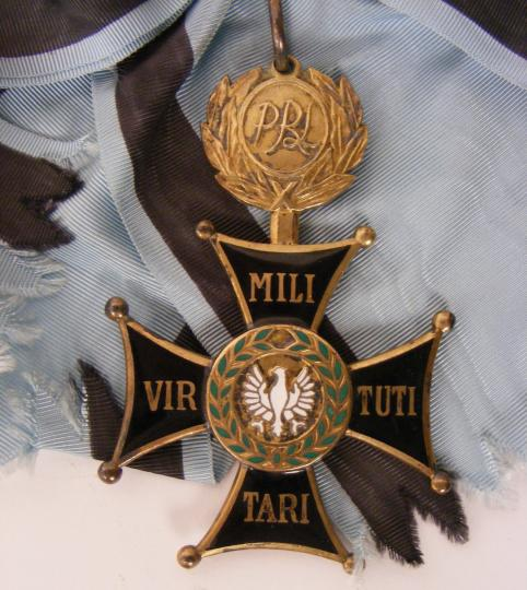 Pologne, Virtuti militari, jewel and ribbon