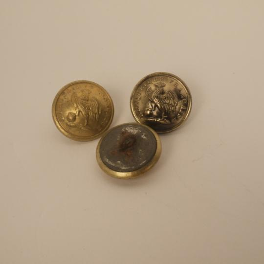 Buttons of Garde Nationale sédentaire: 1848-1852 and 1870-1871, diam 23 mm