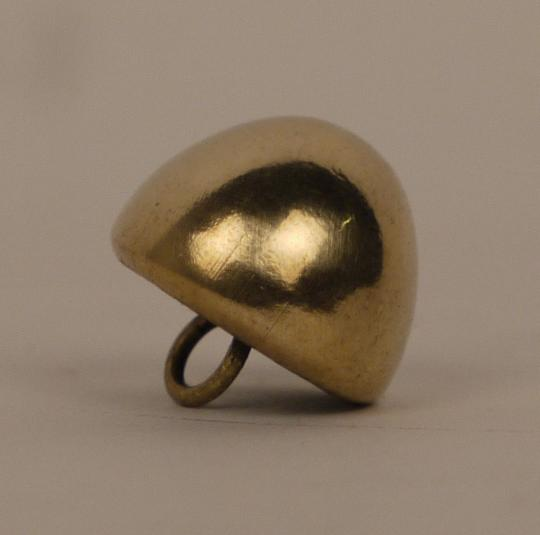 Light cavalry buttons, egg shell shape, pewter  or brass.