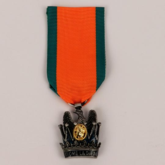 Jewel of iron crown with ribbon