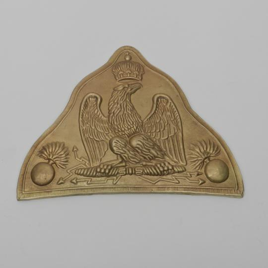 Bear hat brass plate, imperial guard