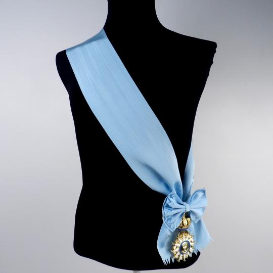 Order of the Réunion: Ribbon with or without
