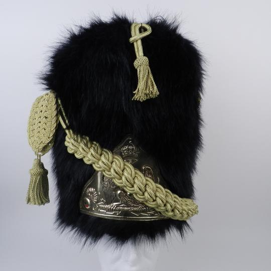 Bearskin hat for infantry of guard, ARTIFICIAL FUR , Officer, cord made in Asia