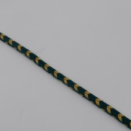 Special for frogs: 6 mm green and yellow braid