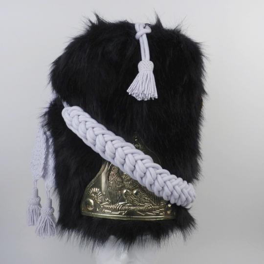 Bearskin hat for infantry of guard, artificial fur, troop, brass plate
