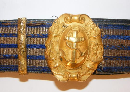Marine officer belt, circa 1900