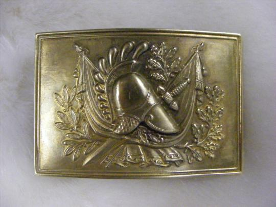 Major officer's waistbelt plate , made by stamping