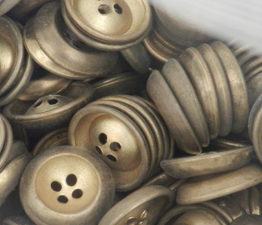 Metallic buttons, bonze aspect, price by one
