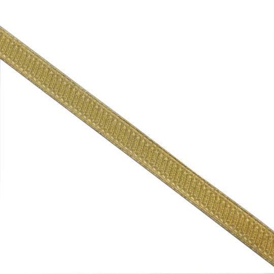 Baton 13 mm double face gold braid, ancient stock, made in France, price per roll.