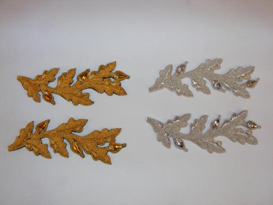 Repeat Pattern Oak Leaf (with acorn), gold or silver, limited stock, price by pair
