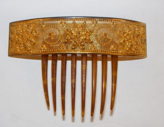 Goldplated comb, XIX th century