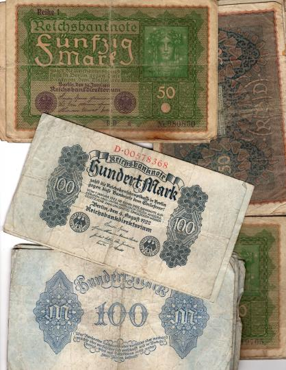 40 german banknotes sold together, 1919 and 1922