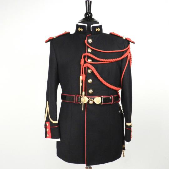 Garde républicaine jacket with epaulettes, aiglets, parade belt