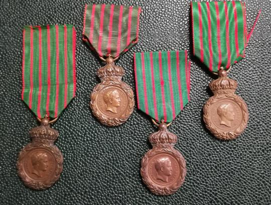 Medaille de saint helene, original decorations with old or recent ribbons, price by one.