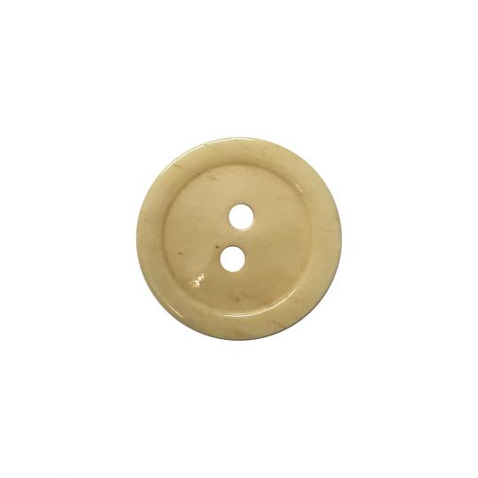 Bone button, 2 holes, 15 or 20 mm