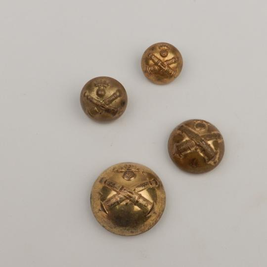 Half ball ancient buttons for artilry, 4 sizes