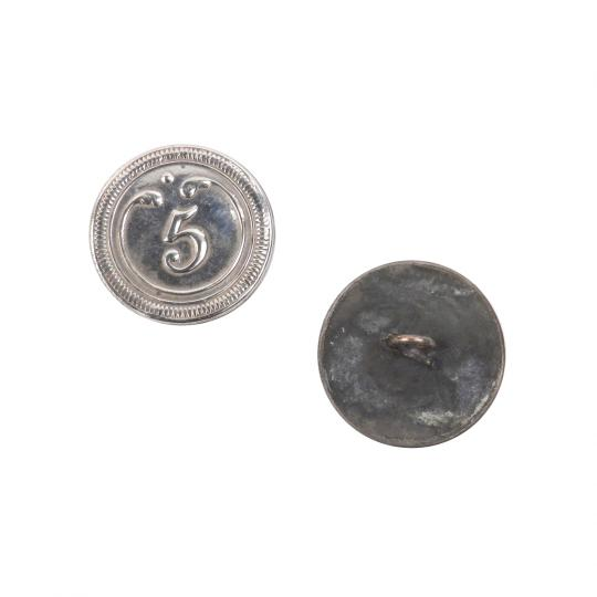 5 th dragoon buttons, sold by one, diam 25 mm