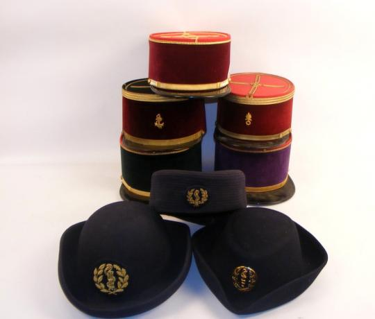 7 hats from french health service. Kepi of foreign legion, with