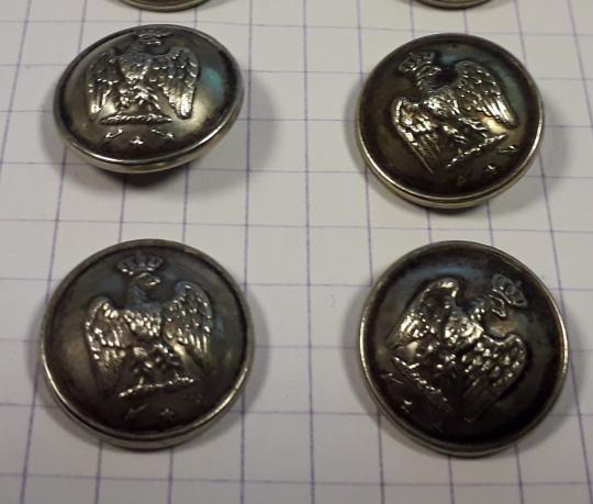 Buttons second Empire 15 mm diam. for Ambassadours, consuls, prefets, maires....). Price by one
