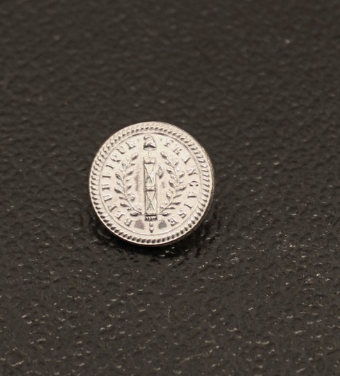 Buttons french revolution, 17 mm, pewter