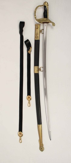 Marine officer sabre by Hostin, sold with straps
