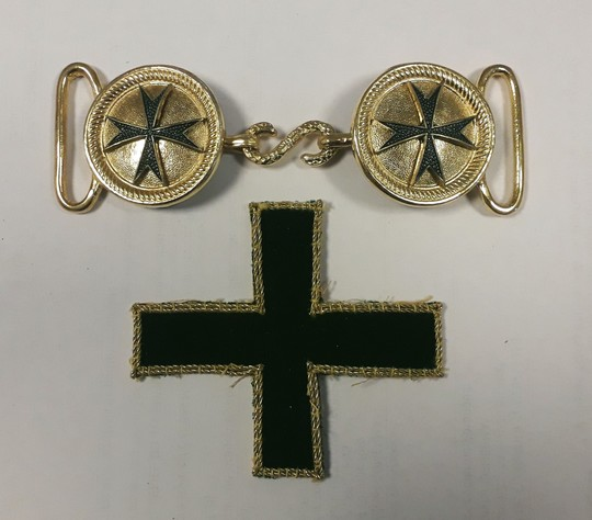 Buckle for cloak, order of Saint Lazare sold without old cross in velvet