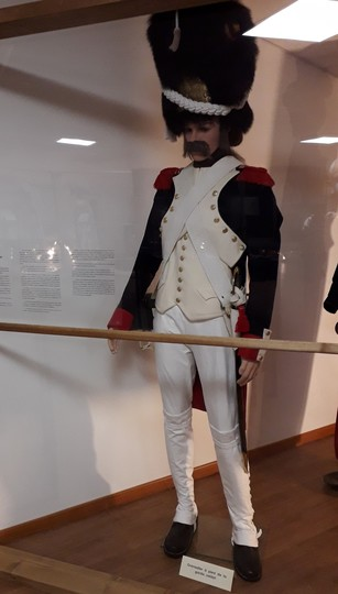 Imperial guard infantry grenadier's uniform for troop, made for exhibition. Without bearskin hat