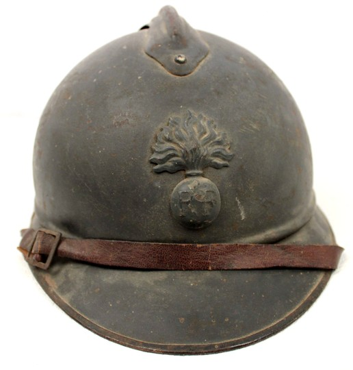 Adrian, infantry helmet WWI, attributed. Sold in 12 h