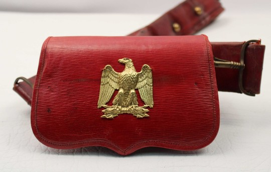 Old ammunition pouch, transformed to use in napoleonic period
