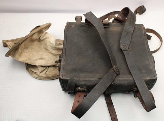 Haversack AS de CARREAU 1893 type, wooden frame
