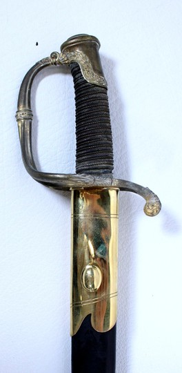 Infantry officer sabre, 1821 type, with new scabbard, ray skin handle.