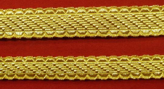 Braid for officers(except guard), gold or silver, 15, 18, 23, 27, 34 mm.