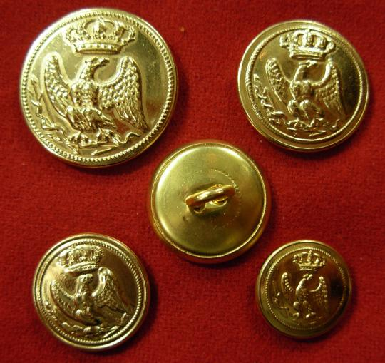 Imperial guard's buttons, on stock - l'unit