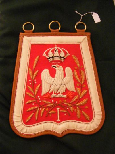 Sabretache 1st hussar troop, circa 1808 1810, delivery time 3 months