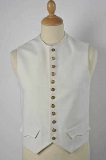 Garde imperiale waistcoat, without collar, can be made without buttons